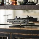 Miniatura Submarino Alemão Seehund em Resina - 35x18 cm