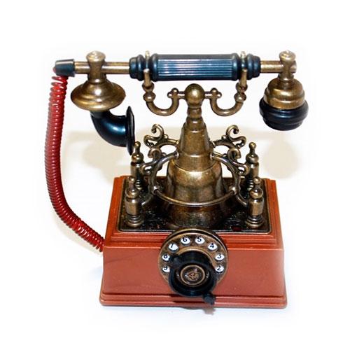 Miniatura Telefone Classic Retrô em Metal - 12x9 cm