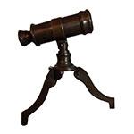 Miniatura Telescópio em Metal