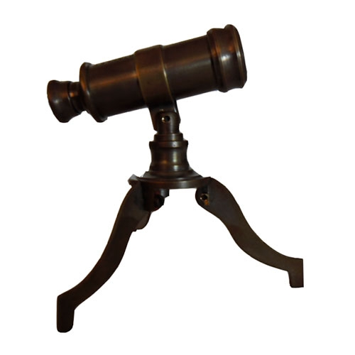 Miniatura Telescópio em Metal - 10x8 cm