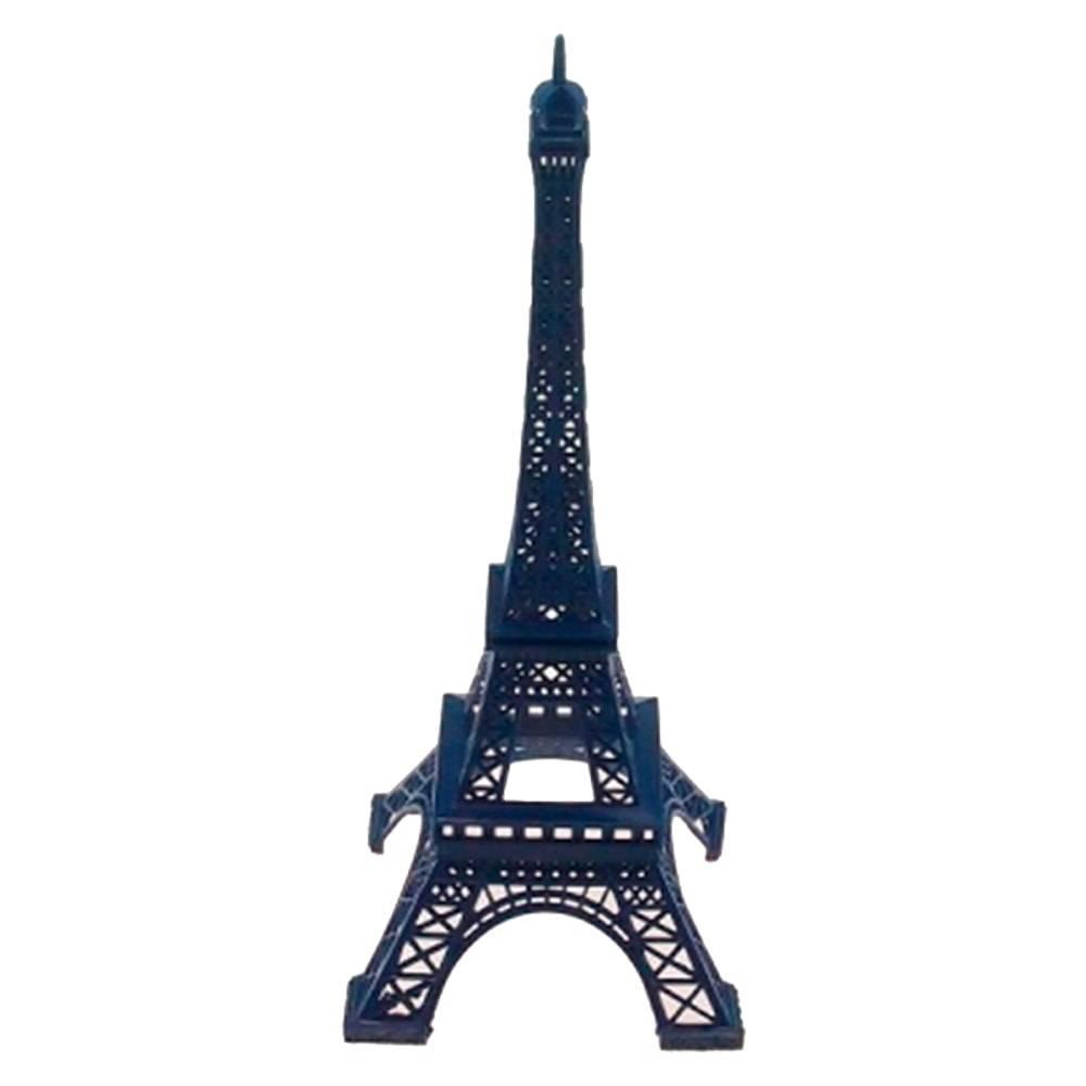 Miniatura Torre Eiffel Azul Grande em Metal - 25x10 cm