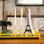 Miniatura Torre Eiffel Branco/Preto em Cerâmica