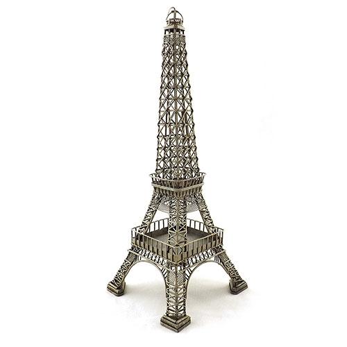 Miniatura de Torre Eiffel Oldway - Em Metal - 15x40 cm