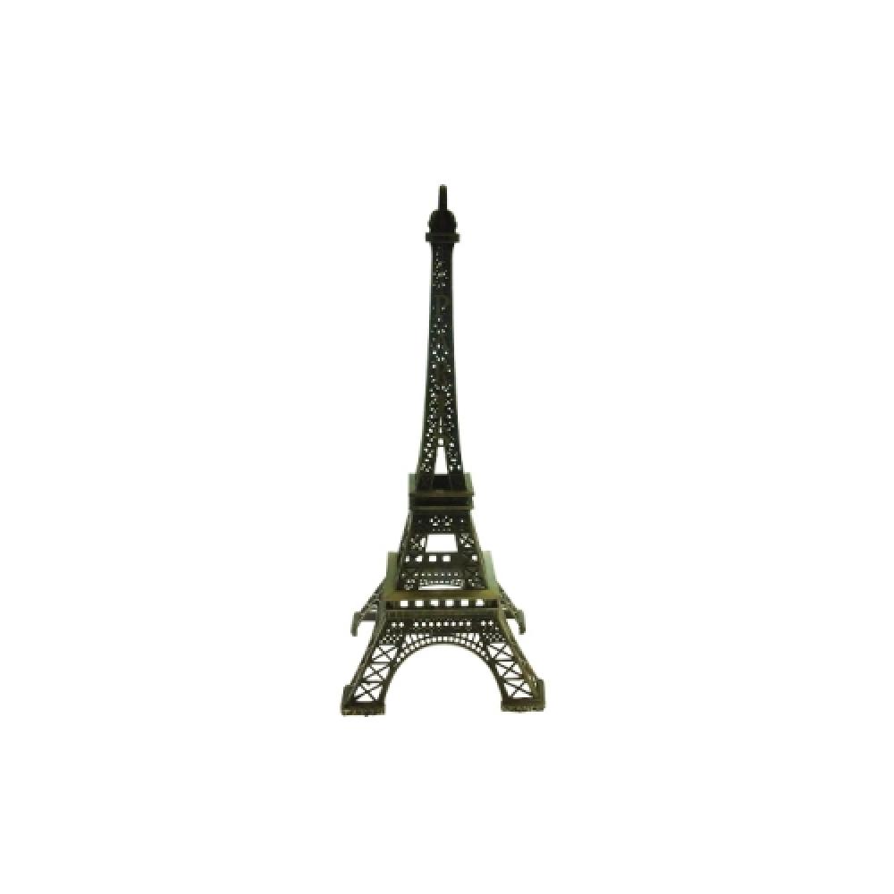 Miniatura de Torre Eiffel P em Metal - 22x8 cm