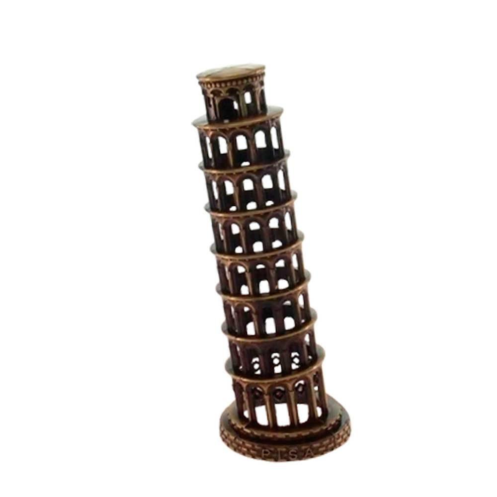 Miniatura Torre de Pisa Bronze em Metal - 16x6 cm