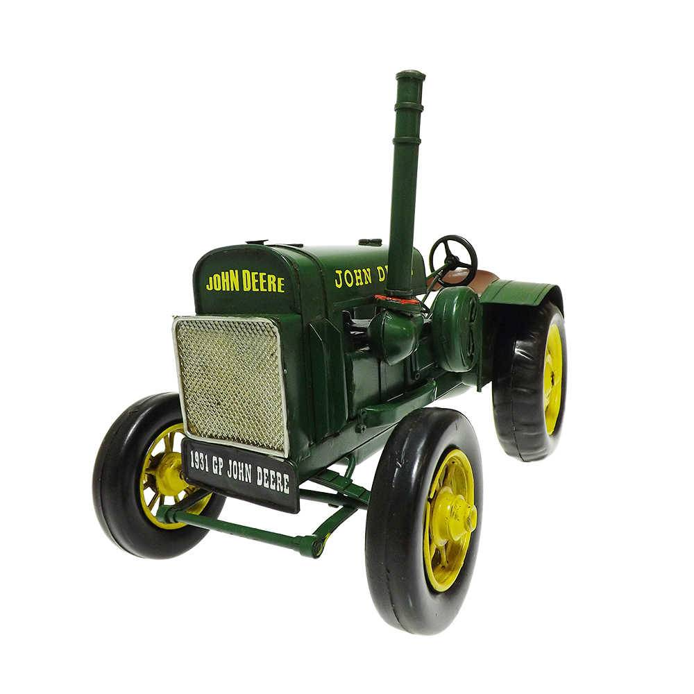 Miniatura Trator 1931 Green John Deere em Ferro - 30x18 cm