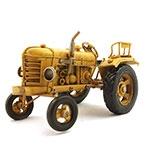 Miniatura de Trator Amarelo Oldway