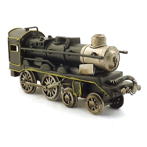 Miniatura de Trem Preto Oldway - Em Metal - 17x7 cm