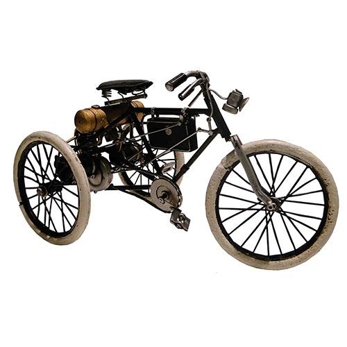 Miniatura de Triciclo 1900 Oldway em Metal - Orient Tricycle - 26x15cm