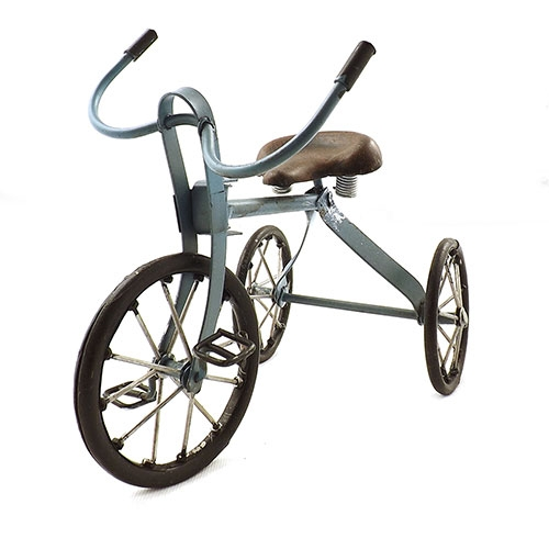 Miniatura de Triciclo Azul Oldway em Metal - 27x21cm