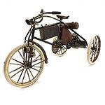 Miniatura de Triciclo Preto/Marrom Alforges e Motor Oldway