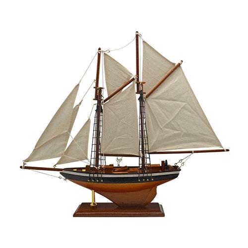 Miniatura Veleiro Classic em Madeira - 41x36 cm