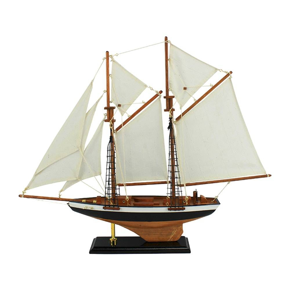Miniatura Veleiro Classic Marrom em Madeira - 52x50 cm