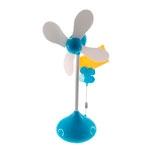 Miniatura Ventilador Flor Azul com Porta Foto