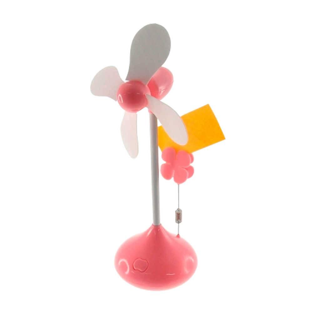 Miniatura de Ventilador Flor Rosa com Porta Foto - 27x10 cm