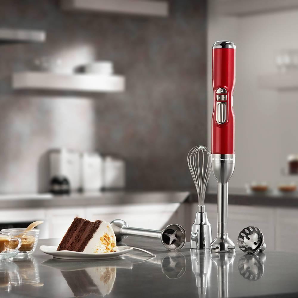 Mixer de Mão 5 Velocidades KitchenAid Pro Line Candy Apple - KES25A3 - 127V - 48,2x6,3 cm