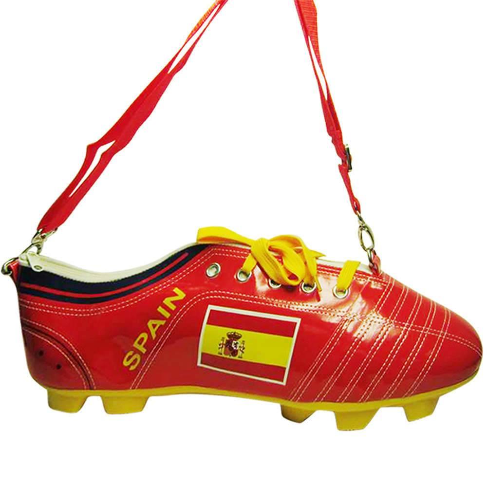 Mochila Football Boot Espanha Vermelha em PU - Urban - 41,5x14,5 cm