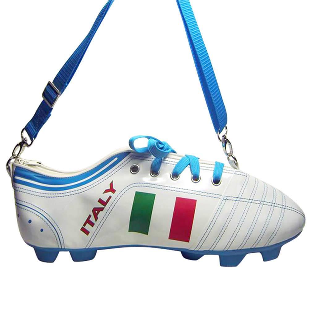 Mochila Football Boot Italia Branca em PU - Urban - 41,5x14,5 cm