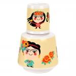 Moringa Frida - Carpe Diem - 750 ml em Porcelana - 16x10 cm