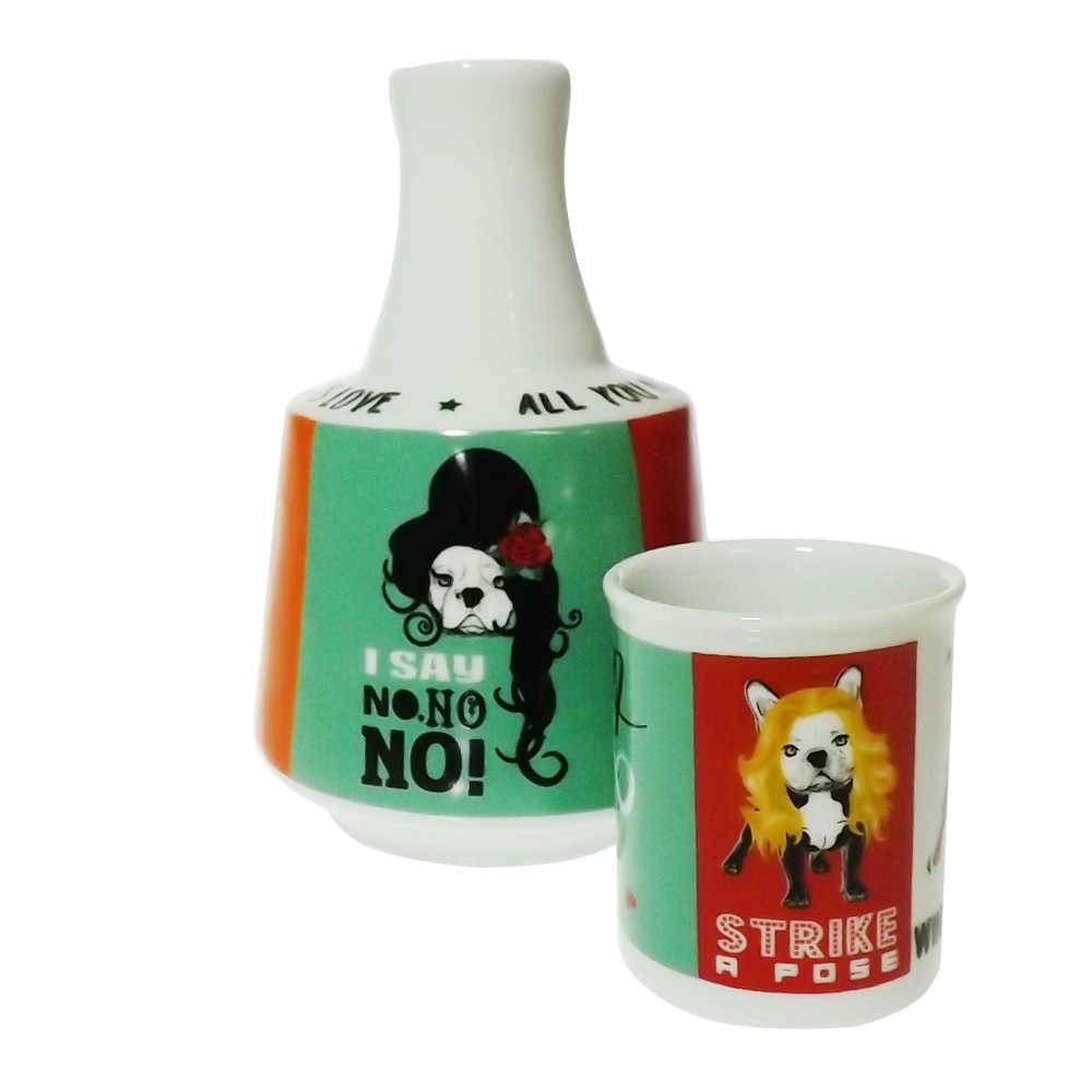 Moringa Monsters of Dog - Carpe Diem - 750 ml em Porcelana - 16x10 cm