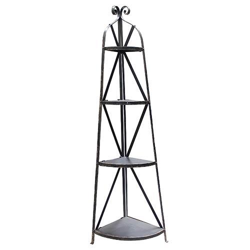 Móvel de Canto c/ 4 Prateleiras em Metal Oldway - 180x62 cm