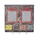 Móvel com Gancheiras e Espelhos Oldway - 69x68 cm