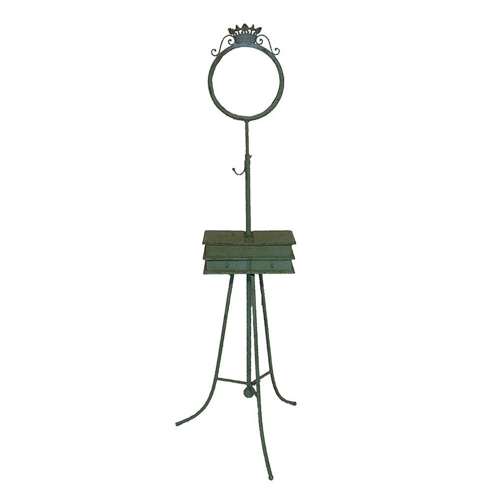Móvel para Jóias com Espelho e Moldura Verde em Metal - 159x62 cm