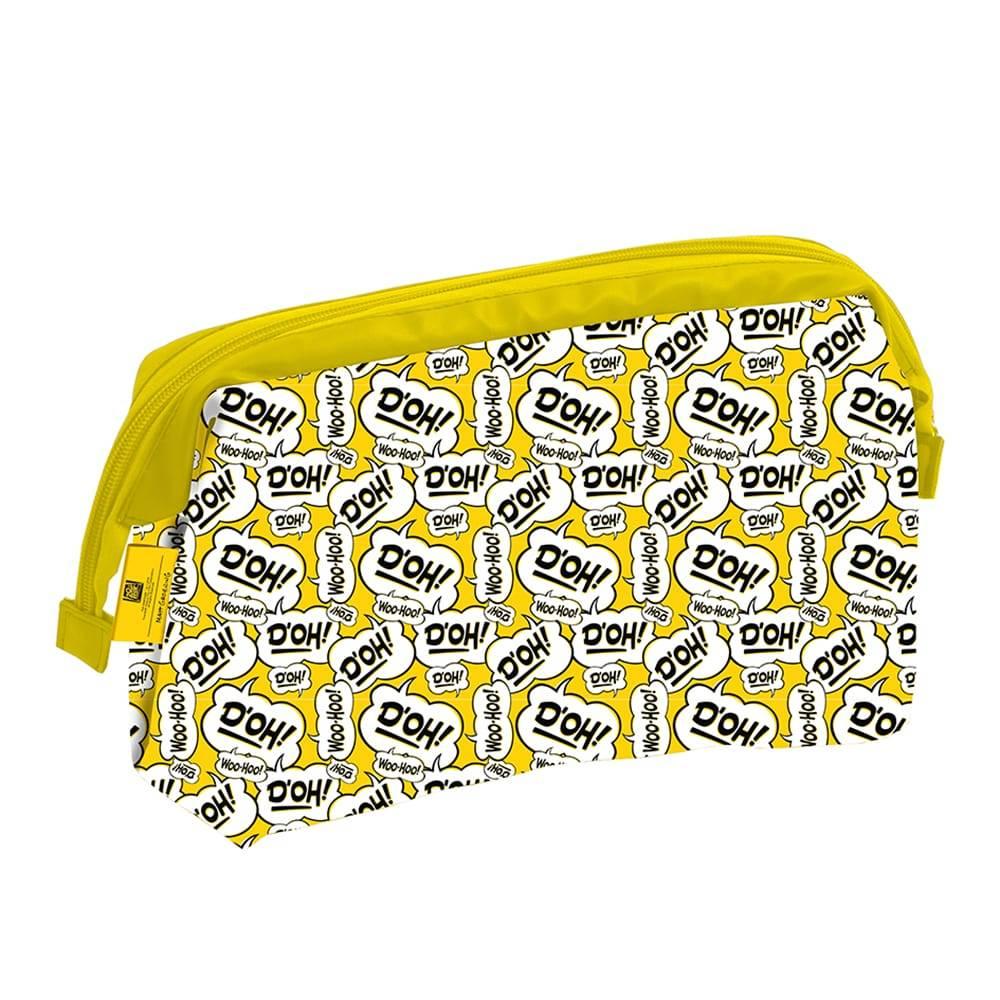 Necessaire Bordões de Homer Simpson Amarela em PU - 27x15 cm