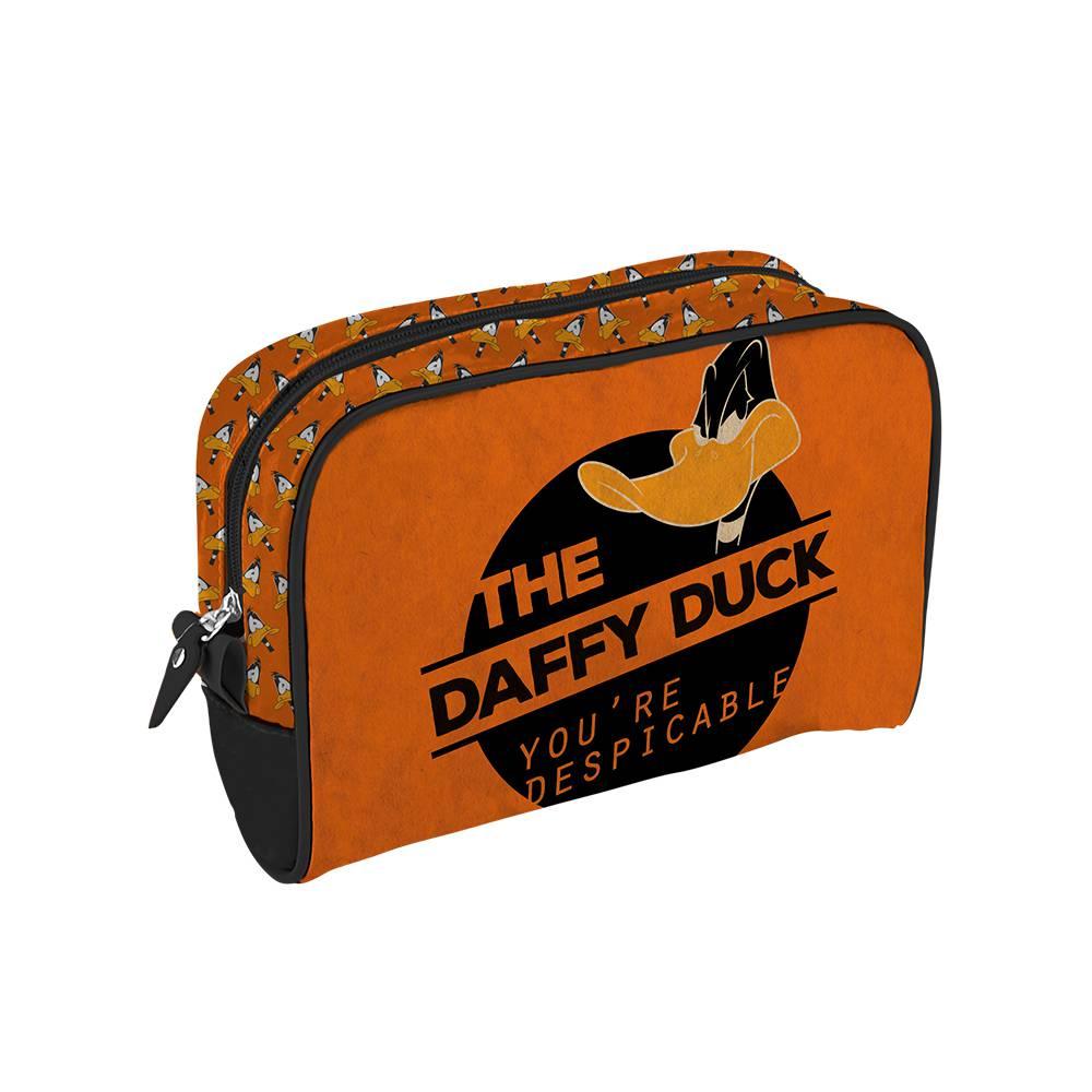 Necessaire Looney Tunes Daffy Duck Despicable Laranja em PU - Urban - 23,5x17 cm