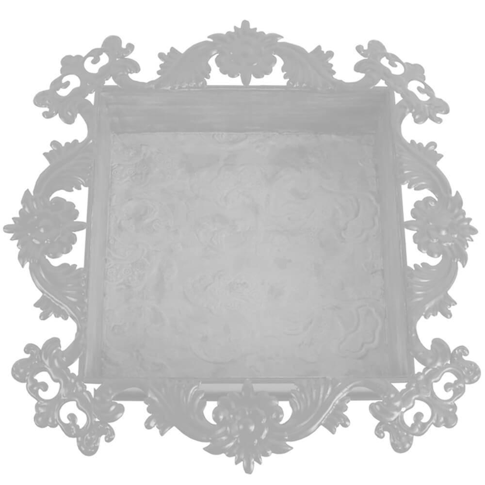 Nicho Chic Branco em Metal - 40x8 cm