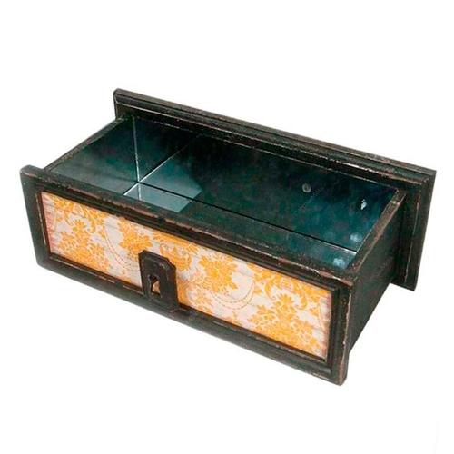 Nicho Drawer Estampada em Madeira - 44,5x38 cm