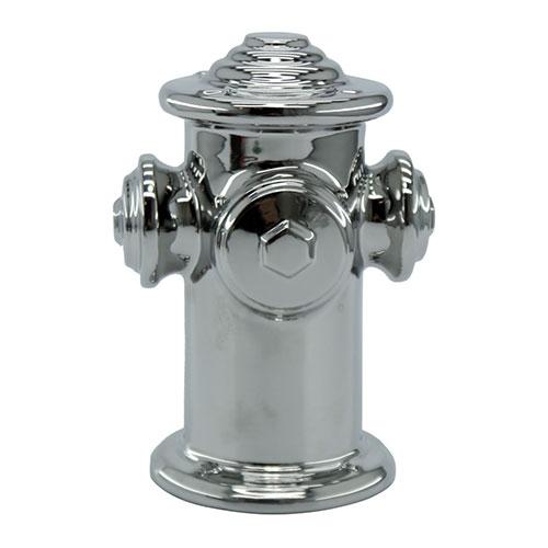 Objeto Decorativo Hidrante Cromado em Cerâmica - 20x14 cm