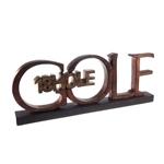 Objeto Decorativo Letreiro Golf em Resina - 31x12 cm