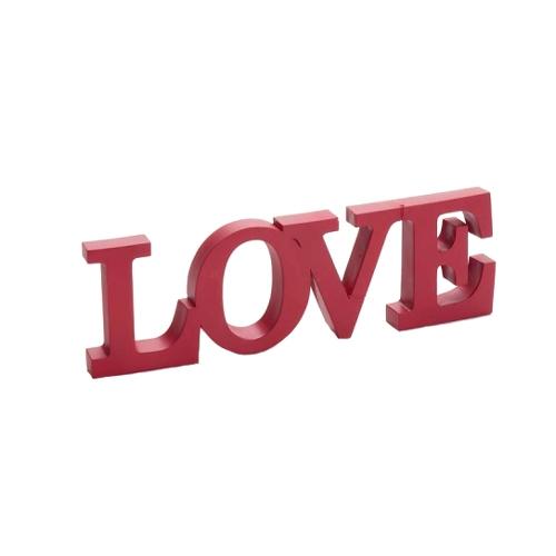 Objeto Decorativo Palavra Love em Resina - 31x10 cm