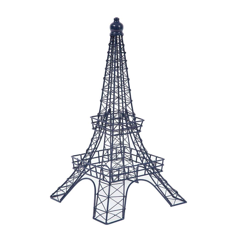 Objeto Decorativo Torre Eiffel Azul em Metal - 51,5x27 cm