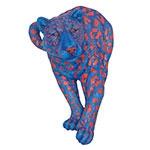 Onça-Pintada Grande Blue/Orange Fullway - 81x51 cm