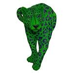 Onça-Pintada Grande Green Fullway - 81x51 cm