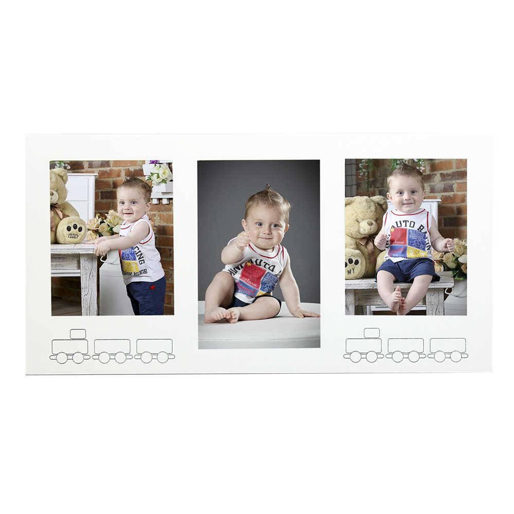 Painel 3 Fotos Trenzinho - 20x30 e 20x25 - em MDF - 72,5x37 cm
