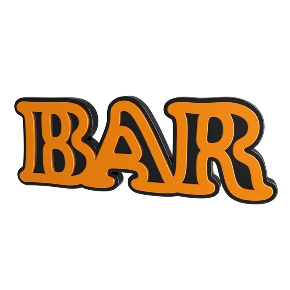 Palavra Decorativa Bar em MDF Laqueado Dourado - 30x12 cm