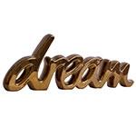 Palavra Decorativa Dream Golden em Cerâmica - 43x15 cm