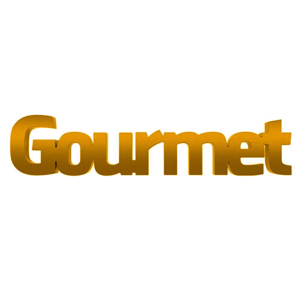 Palavra Decorativa Gourmet em MDF Laqueado Amarelo - 30x6 cm