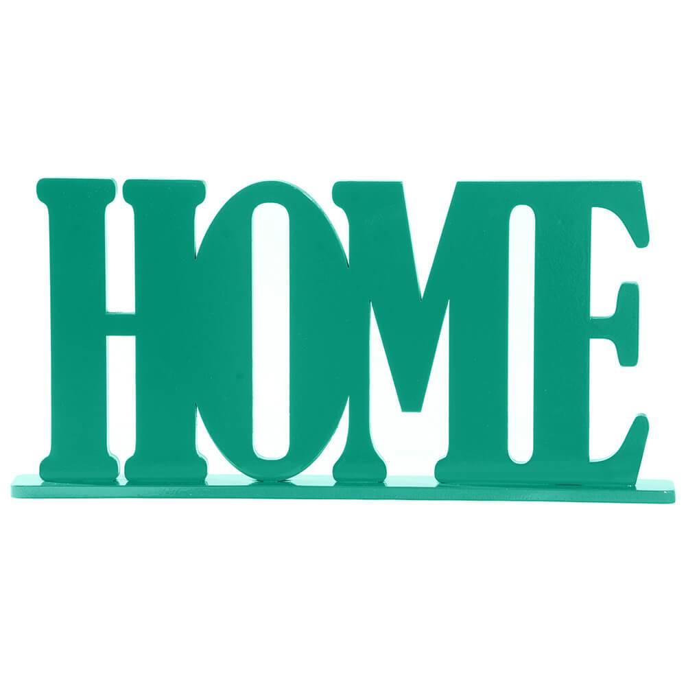 Palavra Decorativa Home em MDF Laqueado Verde - 30x15 cm