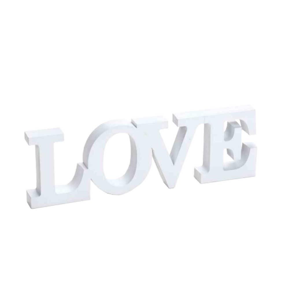 Palavra Decorativa Love Branco em Resina - 31x10 cm
