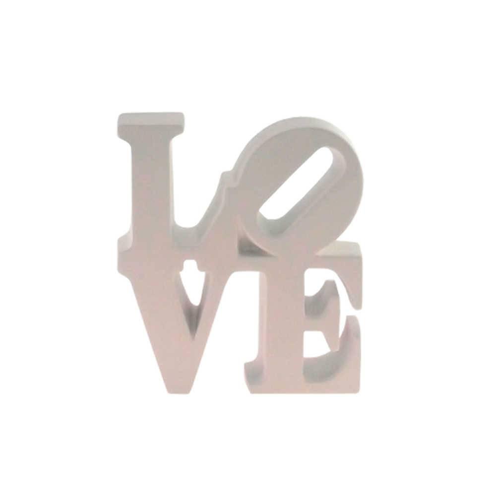 Palavra Love NY Decorativa Branca em Resina - 16x15 cm