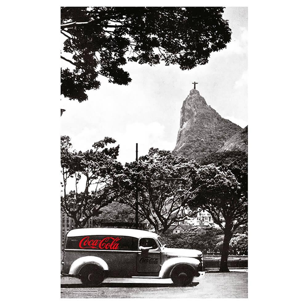 Pano de Copa Coca-Cola Landscape Rio de Janeiro Preto e Branco em Algodão - Urban - 70x45 cm