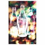 Pano de Copa Coca-Cola Light Bright Colorido em Algodão - Urban - 70x45 cm
