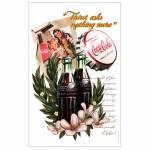 Pano de Copa Coca-Cola Vanilla Flowers Branco em Algodão - Urban - 70x45 cm