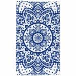 Pano de Copa Indigo Henna Flower Azul em Algodão - Urban