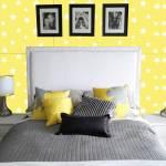 Papel de Parede Autocolante Estrelas Amarelo - 420x53 cm