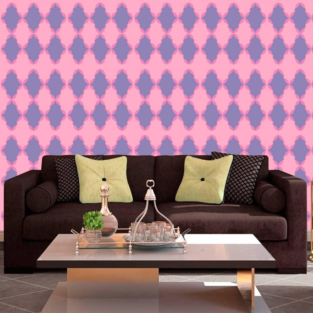 Papel de Parede Autocolante SA001 Tons Rosa e Roxo - 420x53 cm